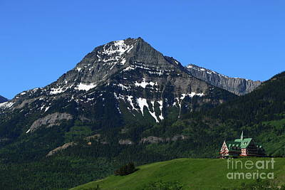Photograph - Prince Of Wales Hotel In Waterton Lake Park by Christiane Schulze Art And Photography