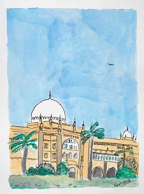 Painting - Prince Of Wales Museum Mumbai by Keshava Shukla