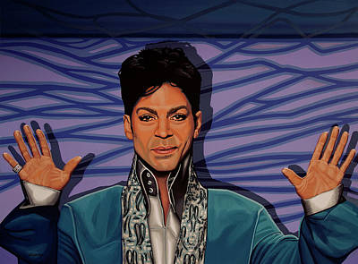Purple Rain Painting - Prince 2 by Paul Meijering