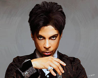 Black Man Painting - Prince by Paul Tagliamonte