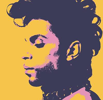 Mixed Media - Prince Pop Art by Dan Sproul
