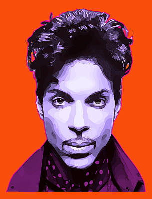 Digital Art - Prince Portrait by Gary Grayson