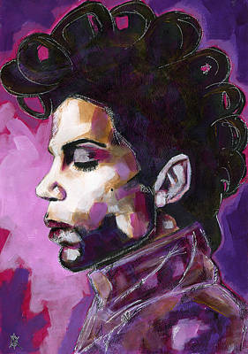 Crying Drawing - Prince Purple King by KM Paintings