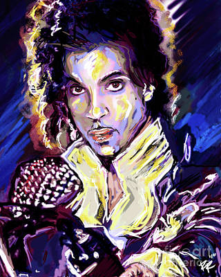 Dove Mixed Media - Prince Purple Rain Art by Ryan Rock Artist