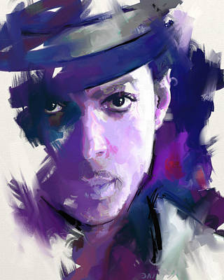 Purple Rain Painting - Prince by Richard Day