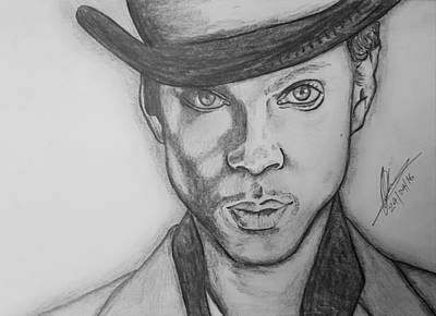 Rain Drawing - Prince Rogers Nelson  by Collin A Clarke