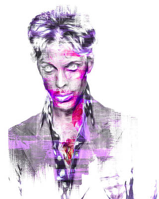 Photograph - Prince Rogers Nelson Digital Painting Musician by David Haskett