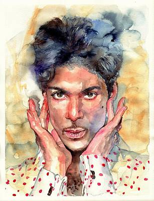 Meditation Painting - Prince Rogers Nelson Portrait by Suzann's Art