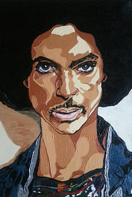 Painting - Prince Rogers Nelson by Rachel Natalie Rawlins