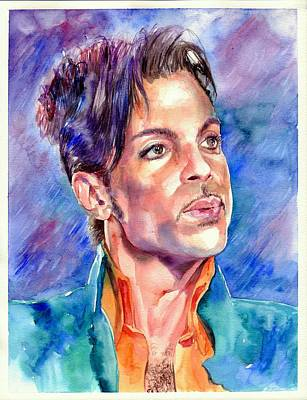 Amazing Painting - Prince Rogers Nelson Super Bowl 2007 Portrait by Suzann's Art