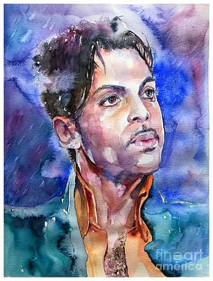 Bracelet Painting - Prince Rogers Nelson Super Bowl by Suzann's Art