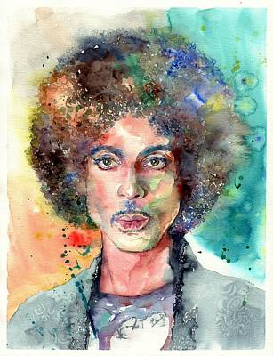 Bracelet Painting - Prince Rogers Nelson Young Portrait by Suzann's Art