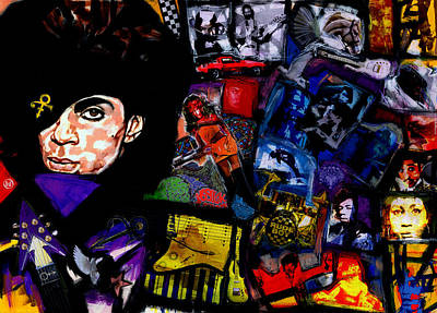 Carlos Santana Painting - Prince Rogers Nelson's Parade by Vernell Garrett