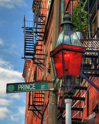 Photograph - Prince Street - Boston North End by Joann Vitali