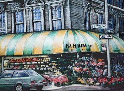 Wall Art - Painting - Prince Street Corner, New York City by Gaye Elise Beda