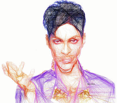Digital Art - Prince - The Love Symbol by Rafael Salazar