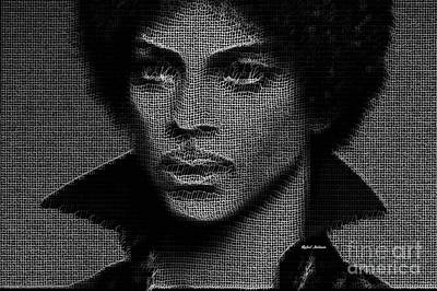 Digital Art - Prince - Tribute In Black And White by Rafael Salazar