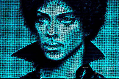 Digital Art - Prince - Tribute In Blue by Rafael Salazar