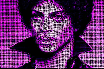 Digital Art - Prince - Tribute In Purple by Rafael Salazar