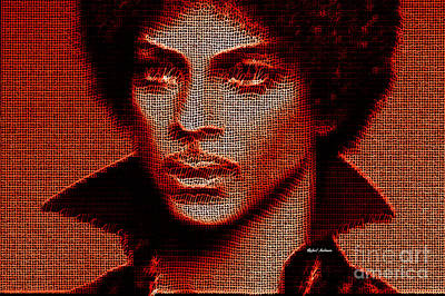 Digital Art - Prince - Tribute In Red by Rafael Salazar