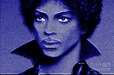 Digital Art - Prince - Tribute In Royal Blue by Rafael Salazar