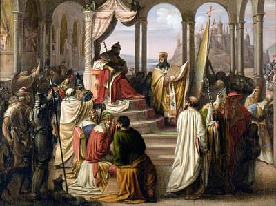 Prince Vladimir Chooses A Religion In 988 Art Print by Johann Leberecht Eggink