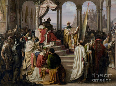 Prince Vladimir Chooses A Religion In 988 Art Print by Scott Anderson