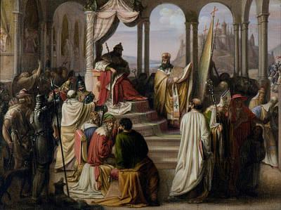 Choosing Painting - Prince Vladimir Chooses A Religion by Johann Leberecht Eggink