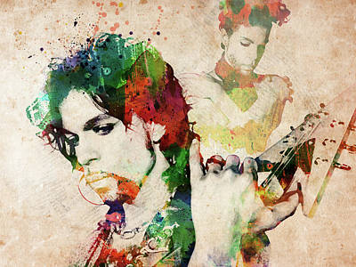 Digital Art - Prince Watercolor by Mihaela Pater