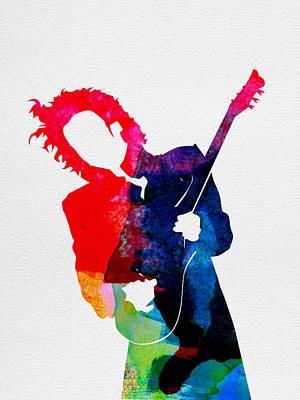Band Digital Art - Prince Watercolor by Naxart Studio