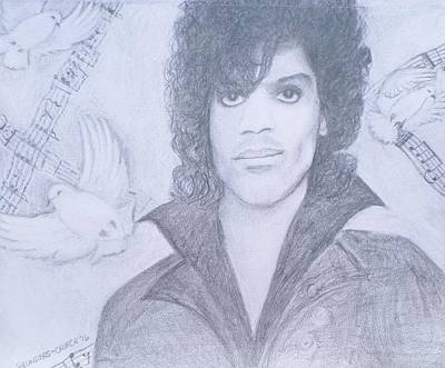 Crying Drawing - Prince When Doves Cry by Christy Saunders Church