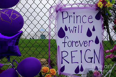 Photograph - Prince Will Forever Reign by Jacqueline Athmann