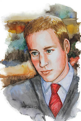 Middleton Painting - Prince William by Patricia Allingham Carlson