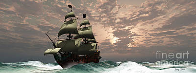 Boating Digital Art - Prince William Ship by Corey Ford