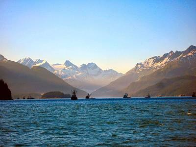 Prince William Sound Fishing Seiners Art Print by Adam Owen