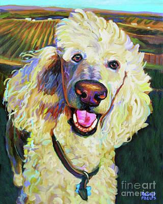 Princely Poodle Art Print