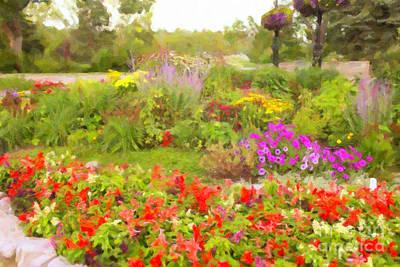 Digital Art - Prince's Island Flower Garden by Donna L Munro