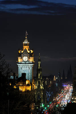 Photograph - Princes Street At Night. by Veli Bariskan