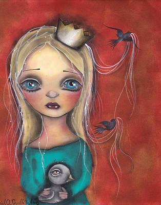 Folk Art Mixed Media - Princesa Fabiola by  Abril Andrade Griffith