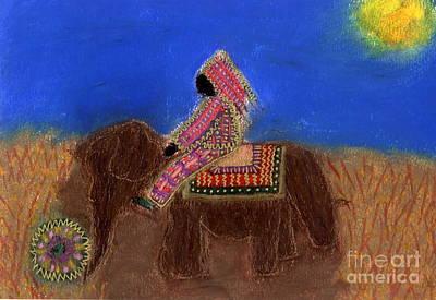 Princess Alga Rides Away Art Print