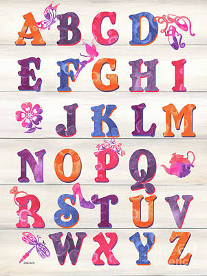 Princess Alphabet Art Print by Debbie DeWitt