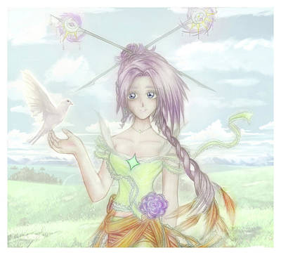 Princess Altiana Colour Art Print by Shawn Dall