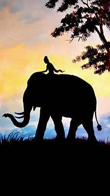 Painting - Princess And The Elephant - Old Siam by Ian Gledhill