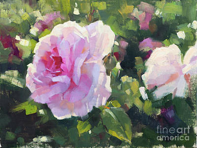Wall Art - Painting - Princess Anne Rose by Patrick Saunders