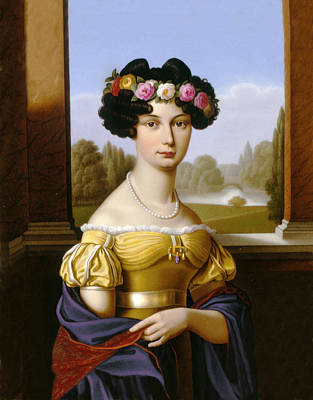 Geb Painting - Princess Auguste Von Harrach by Celestial Images