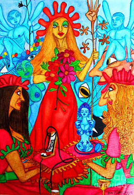 Art Print featuring the painting Princess Countrywoman. by Don Pedro De Gracia