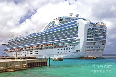 Photograph - Princess Cruise Ship by Gary Wonning
