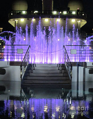 Photograph - Princess Cruises Water Show by Randall Weidner