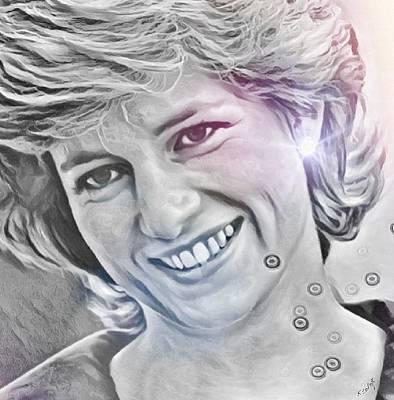 Drawing - Princess Diana by Susan Solak