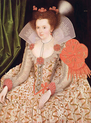 Seventeenth Century Painting - Princess Elizabeth The Daughter Of King James I by Marcus Gheeraerts